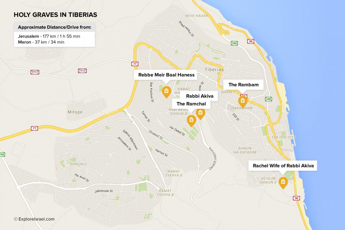 Tiberias Map Bing Images